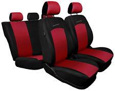 CAR SEAT COVERS fit Fiat Grande Punto - full set SPORT LINE - black/red