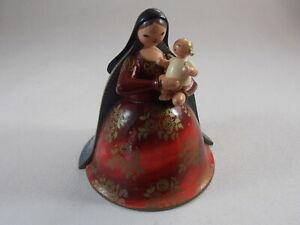 Erzgebirge Madonna W Child Baby Jesus Wood Figurine Germany Wendt & Kuhn As Is