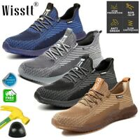 Men's Work Safety Shoes Steel Toe TPR Boots Indestructible Lightweight Sneakers