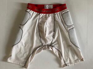 RAWLINGS Men's Adult Compression Lightly Padded Sliding Shorts Size Large White