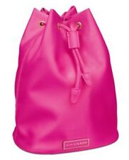 Prada CANDY hot Pink Satin MakeUp DrawString Pouch Bucket Bag back pack purse