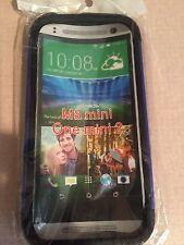 HTC M8 Mini One Mini 2 Cobalt Blue Dual Case Hard Rubber Back
