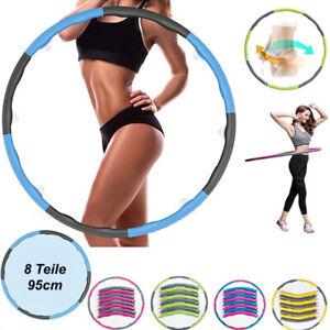 8 Teile Hula Hoop Fitness Reifen Gymnastik Hüftmassage Schaumstoff 1kg Ø 95cm