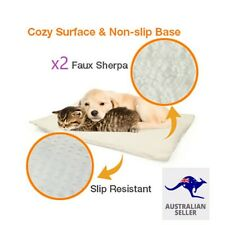 x 2 Pet Self Heating Thermal Dog Cat Puppy Kitten Faux Sherpa Washable Removable