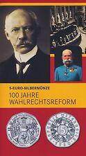 Österreich 5 Euro 2007 Silber Wahlrechtsreform hgh im Blister
