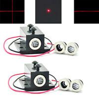 2pcs Focusable 650nm 5mW Red Laser Diode Module Dot/line/Cross caps w/ Heatsink