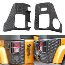 Black Diamond Plate Thermoplastic Rear Tall Corner For 07-15 Jeep Wrangler JK