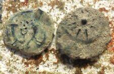 Lot: 2 Ancient Jesus Era Coins, King Herod the Great & Widow's Mite of Janneaus