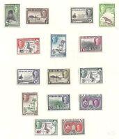 Nyasaland stamps 1945 SG 144-157  MLH  VF