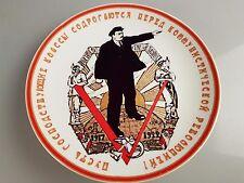 Teller russische Porzellan UdSSR Kommunismus W. Lenin Russia