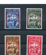 1945.ALBANIA.YVERT 326/29*.NUEVOS CON FIJASELLOS.(MH).CAT.90 €