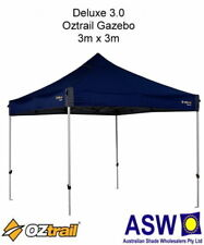 3m x 3m Oztrail Gazebo DELUXE 3.0 BLUE Instant Fold Marquee G-OZD3.0