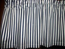 Navy Blue White Stripes nautical waverly fabric window topper curtain Valance