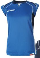 Asics Ladies Olympic Set Blue Navy Womens T Shirt Shorts UK Size 8 XS *REF34