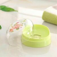 Soap Dish Box With Lid Case Holder Wash For Home Bathroom Shower Accessories