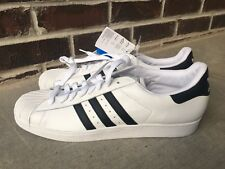 New Adidas Originals Superstar 2  Mens Size 20 White Retro Sneakers Shell Toes