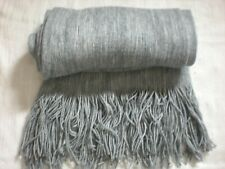 Super Soft Men's Unisex Grey Merle / Marbled Knitted Fringed Scarf in VGC