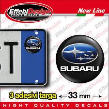 ADESIVI stickers bollini targa/plate SUBARU XV FORESTER LEGACY IMPREZA WRX STI