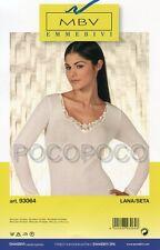 Long Sleeve T-Shirt Woman Wool Silk Emmebivi Art. 93064
