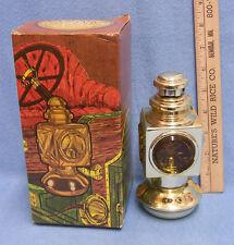 Avon Vintage Goldtone & Glass Decanter Bottle w/ Box Auto Lantern Deep Wood Talc