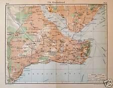 KONSTANTINOPEL, farbiger Stadtplan, gedruckt 1931