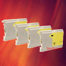 4 LC51Y LC51 YELLOW INK FOR BROTHER DCP-130C 330C 350C