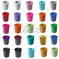 """TULLE Roll Spool 6""""x100yd Tutu Wedding Gift Craft Party Bow 6""""x300'Colours Pick"""