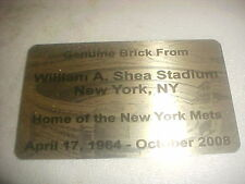 New York Mets Shea Stadium Brick Plaque