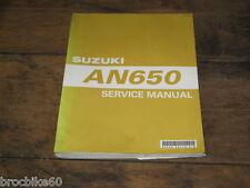 MANUEL REVUE TECHNIQUE D ATELIER SUZUKI AN 650 BURGMAN 2002-> Service Manual