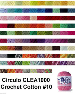 VARIEGATED COLOURS Circulo CLEA1000 155g 1000m Crochet Cotton Knitting Thread#10