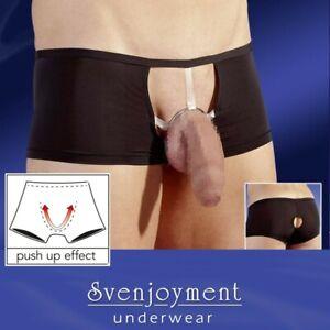Svenj. Premium GAY Collection Mikrofaser Showmaster Pants mit Ring Plug in S