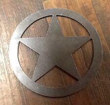 "One Metal Star In Circle 8""O.D. Art Plasma Cut 11 Gauge Wall Art Weld Gate Steel"
