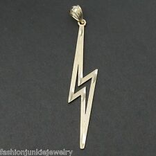 Lightning Bolt Pendant - Solid 10K Yellow Gold - Lightning Bolt Charm NEW Bolts
