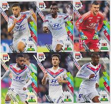PANINI FOOTBALL 2014 2015 ADRENALYN CARDS LOT DE 6 CARDS GAME OLYMPIQUE LYONNAIS