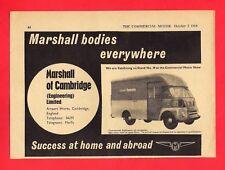 Old Magazine Advert - Marshall Motor Bodies - BMC FG: Eastern Electricity - 1964