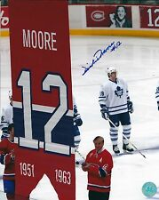 Autographed DICKIE MOORE Montreal Canadiens 8x10 Photo - W/COA