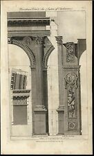 Corinthian Order Classic Architecture Stone Carvings 1789 antique engraved print