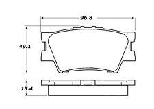 StopTech Street Brake Pads fits 2007-2009 Toyota Camry Matrix  STOPTECH