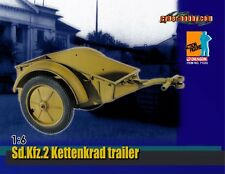 "Dragon Cyber-Hobby 1/6 Scale 12"" Sd.Kfz.2 Kettenkrad Trailer 71333"