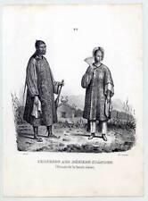 China-chinos-TRACHTEN-etnología - asia-litografía-Honegger 1840