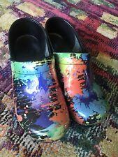 Dansko Multicolor Clogs Shoes Nursing Work Women Sz EU 40 US 9-9.5
