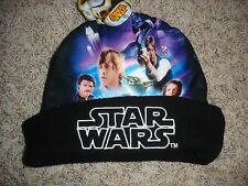 NWT Star Wars youth boys ONE SIZE knit hat photo beanie cap Darth Vader Luke