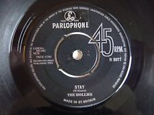 """The Hollies Stay / Now's The Time UK Parlophone 1963 7"""" Vinyl Single"""