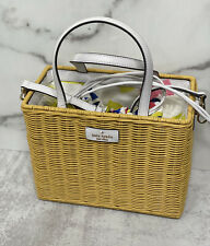 Kate Spade Sam Wicker Lemon Zest Medium Satchel WKRU6859 Multi