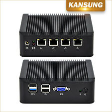 Industrial Fanless Barebone 4 Gigabit Lan 4 USB Intel J1900 CPU Desktops Mini PC