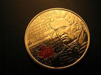 Canada 2013 War Of 1812 Hero De Salaberry Coloured 25 Cent  Mint Coin.