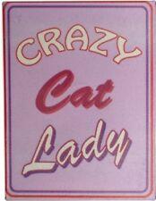 Fantastic Retro Crazy Cat Lady Colourful Fridge Magnet