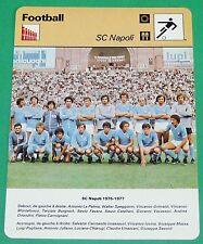 FOOTBALL CALCIO ITALIA ITALIE SC NAPOLI NAPLES 1976-1977