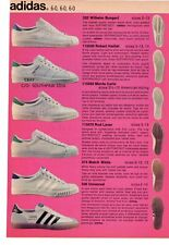 1972 Adidas Tennis Shoe Collection Vintage Print Advertisement