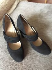 Unisa Black Suede Mary Janes Size 37 Worn Twice